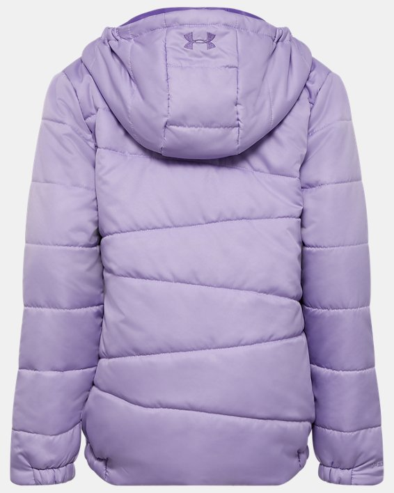 Girls' UA Prime Puffer Jacket, Purple, pdpMainDesktop image number 1